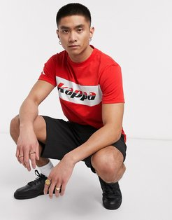 authentic race clinio logo t-shirt in red