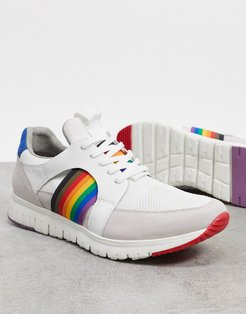 bailey pride sneakers in white