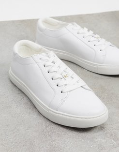 kam sneakers in white leather