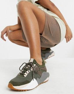 maddox sneakers in taupe and olive-Green