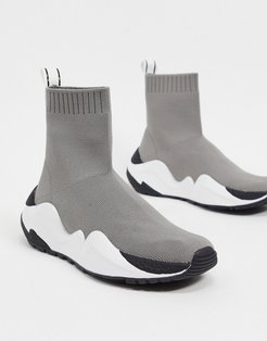 Maddox stretch sneakers in gray-Grey