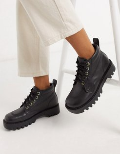 Kizziie Hi cleated low ankle boots in black