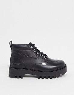 Kizziie High chunky ankle boots in black