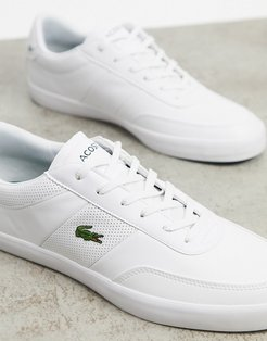 court master perf stripe sneakers in white leather