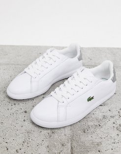 Graduate 120 leather sneakers in white with silver tabs