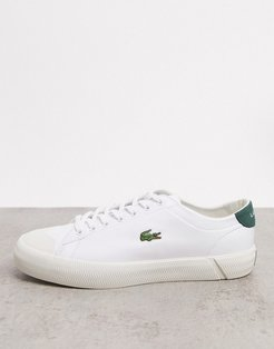 gripshot sneakers in white green leather