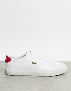 gripshot sneakers in white / red