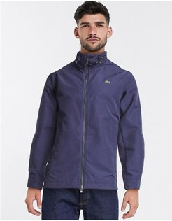 lightweight jacket wtith concealed hood-Navy