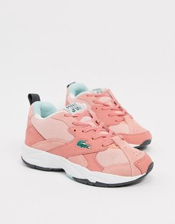 Storm panel chunky sneakers in pink