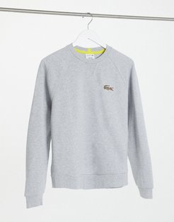 x National Geographic Printed Croc Logo Sweat in silver-Gray