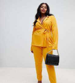 cigarette pants in yellow