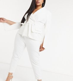 exclusive tailored pants two-piece in white