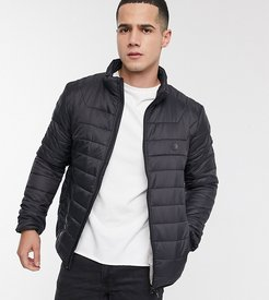 padded puffer jacket in black