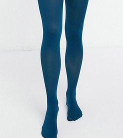 Maternity recycled poly 50 denier tights in teal-Green