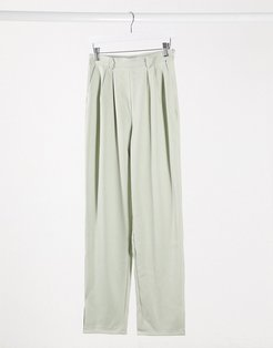 set high waisted pants-Green