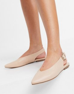 slingback ballet flats in beige-Neutral