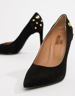 pointed heeled shoes-Black