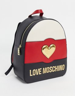 sweetie heart cross backpack in black ivory red mix