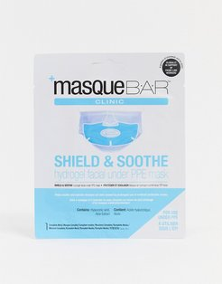 Shield & Soothe Hydrogel Hyaluronic Acid & Aloe Vera infused Facial Mask-No color
