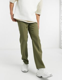 Aftermath straight suit pants in green