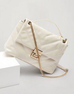 bag with chain detail in white