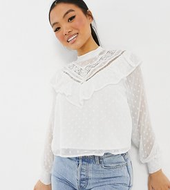 blouse in ivory-White