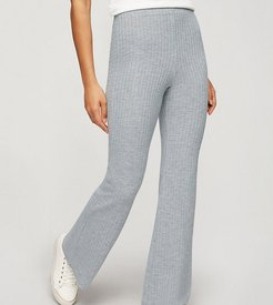 flared pants in gray-Grey