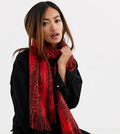 London Exclusive scarf in red snake