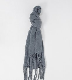 London Exclusive super soft scarf with tassels in gray