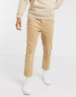 corduroy pants in camel-Beige