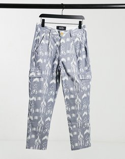 Shakur pants in blue print