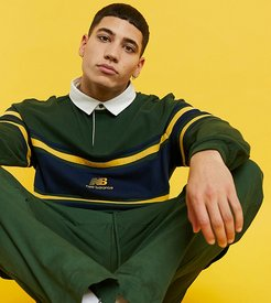 logo rugby shirt in green exclusive to ASOS