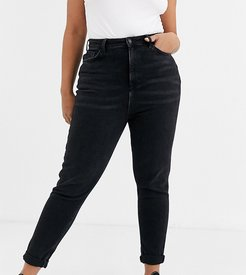 New Look Curve mom jean in black