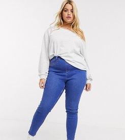 New Look Curve shaper jegging in mid blue