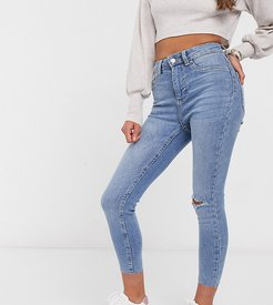 ripped disco jeans in blue