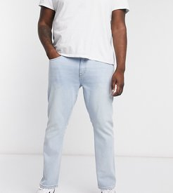PLUS slim washed blue jeans in blue-Blues