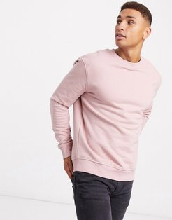 relaxed long sleeve sweatshirt in light pink