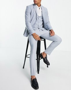 skinny suit pants in pale blue