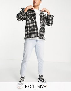 slim cropped jeans in light blue wash-Blues