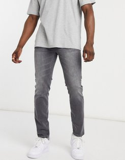 slim jeans in washed gray-Grey