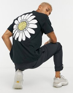 t-shirt with sunflower-Black