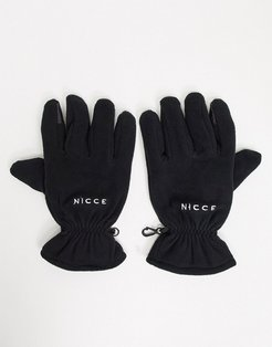 soft touch gloves in black