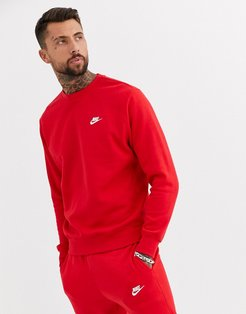 Club crew neck sweat in red