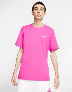 Club crew neck t-shirt in pink