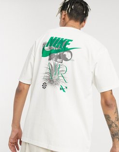 Revival graphic print T-shirt in off white