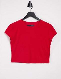 city ready crop top in red