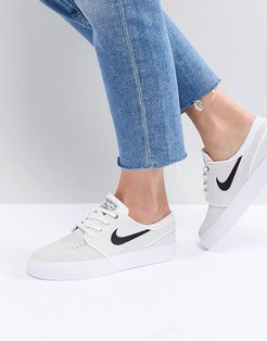 Zoom Janoski Sneakers In White Suede