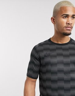 Nike Soccer dry academy printed t-shirt in black