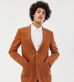 skinny blazer in camel-Brown
