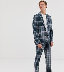 slim sb2 notch suit jacket in check-Yellow